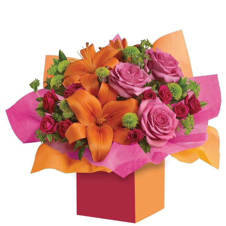 This is the perfect beauty. Colourful roses, fun #flowers all wrapped up to 'Make a Wish'