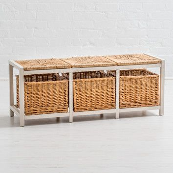 You'll love the Country Farmhouse Storage with Wicker Pad Hallway Bench at Wayfair.co.uk - Great Deals on all Furniture  products with Free Shipping on most stuff, even the big stuff.
