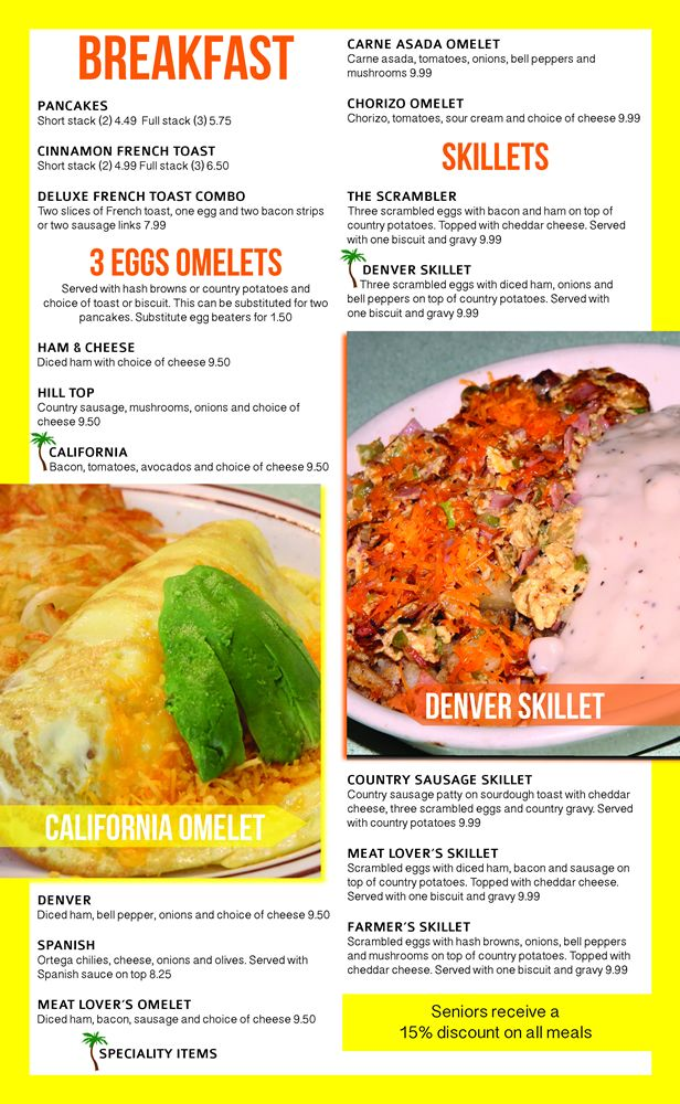 Restaurant Menu Graphic Design Services for Mexican and American