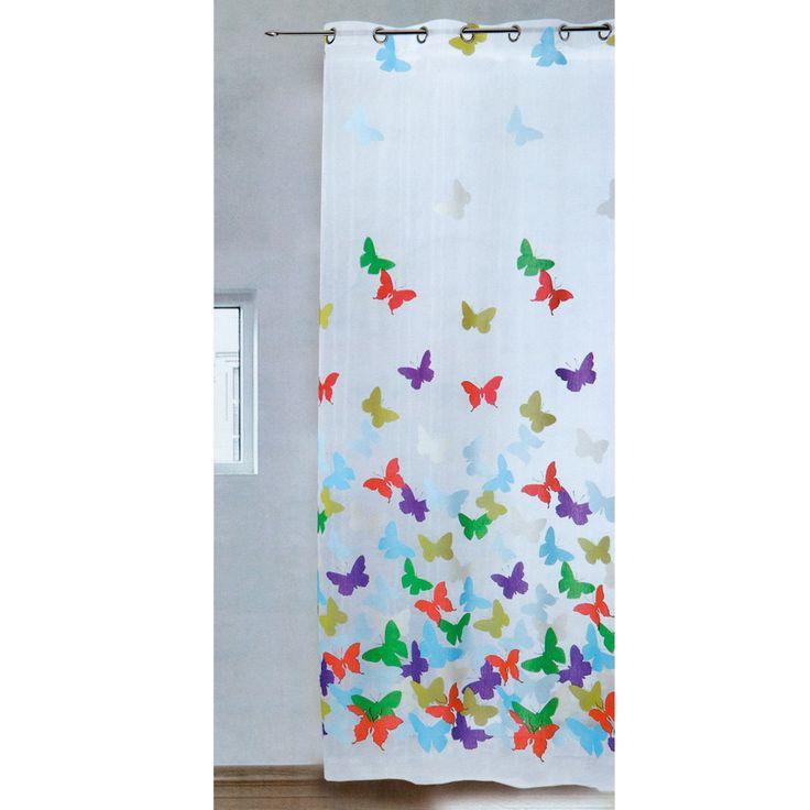 Tenda arredo velata Papillon con borchie 140x280 cm M171