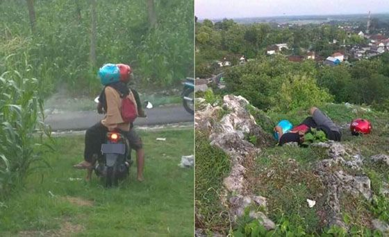 Foto: Dikira Korban Kecelakaan Sepasang Remaja Terpergok Mesum di Pinggir Jalan