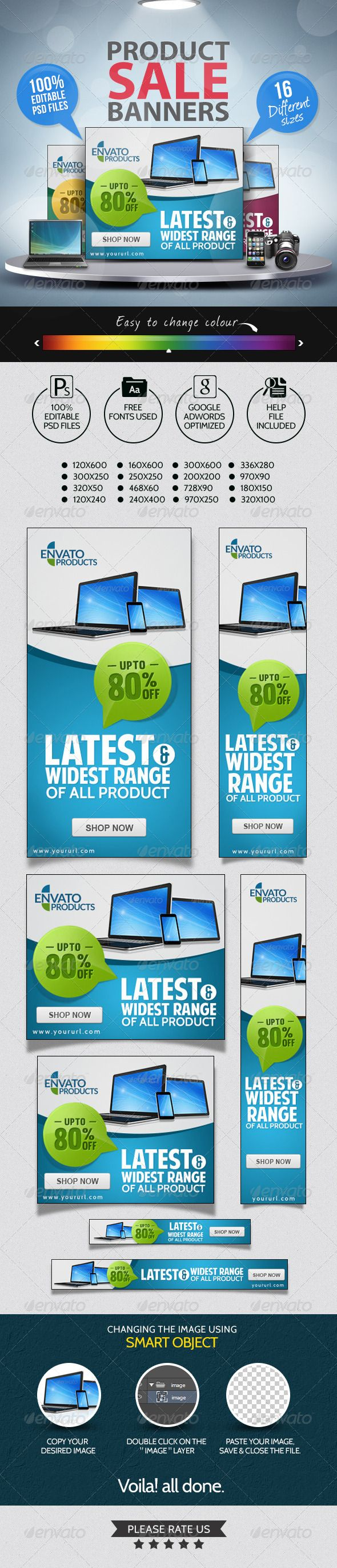 Product Sale Banners — Photoshop PSD #web banner #banner pack • Available here → https://graphicriver.net/item/product-sale-banners/7195251?ref=pxcr