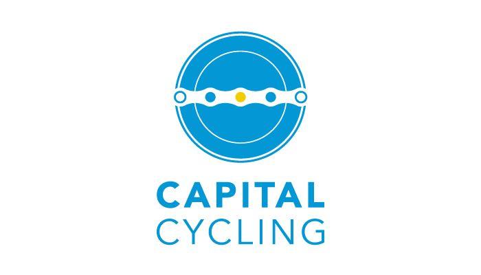 Capital Cycling Logo design and branding http://www.spectrumgraphics.com.au/