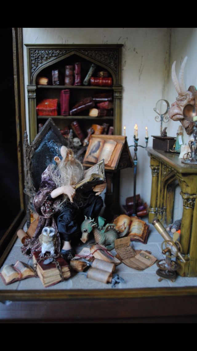 Love the older fairy in his workshop...
