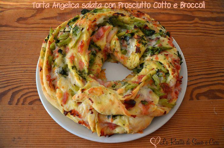 La Torta Angelica Salata con Prosciutto Cotto e Broccoli è una treccia di pasta a forma di ciambella non solo bella da vedere ma soprattutto golosa!