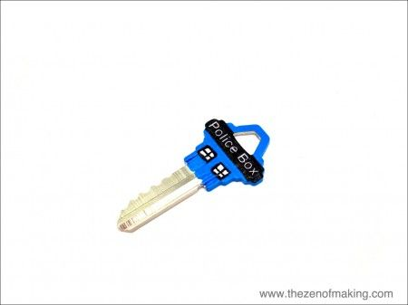 For my Whovian friends, a neat little spruce-up for your house keys. Tutorial: Painted TARDIS Keys | The Zen of Making