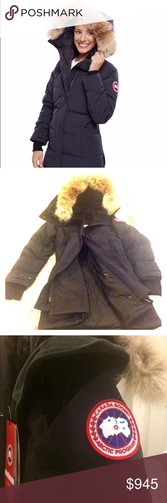 Canada Goose Shelburne Parka (XXS) New, authentic Canada Goose parka with all original tags and registration paperwork attached. Never been worn. Navy. Adult XXS. Retail value $900. Canada Goose Jackets & Coats