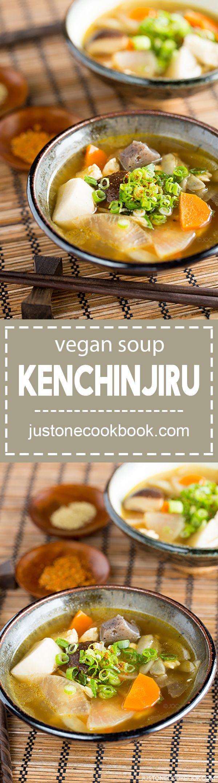 Vegetable Soup - Kenchinjiru (けんちん汁) - Vegan | Easy Japanese Recipes at JustOneCookbook.com