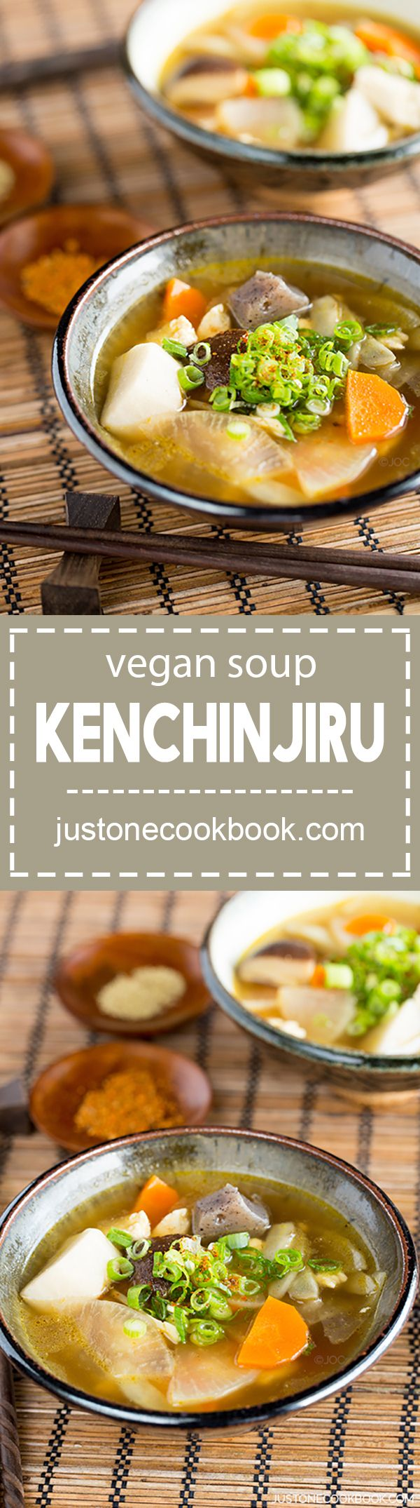 Vegetable Soup - Kenchinjiru (けんちん汁) - Vegan | Easy Japanese Recipes at JustOneCookbook.com