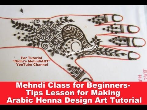 "Mehndi Class for Beginners- Tips Lesson for Making Arabic Henna Design Art Tutorial - Search ""Nidhi's MehndiART"" YouTube channel for all kind of mehndi henna design tutorial. #fashion #jewellery #trend #bridal #bride #wedding #marriage #festival #tradition #beautiful #girl #london #paris #canada #us #india #surat #ahmedabad #uk #arabic #floral #gulf #dubai #henna #mehndi #mehandi #art #drawing #tattoo #design"