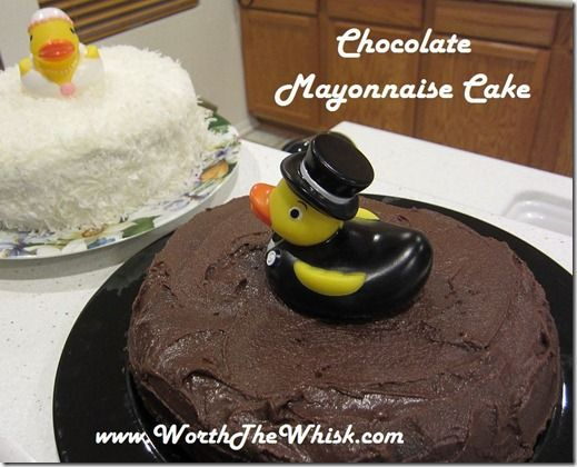 Chocolate Mayonnaise Cake ~ a Southern Cake for the Groom