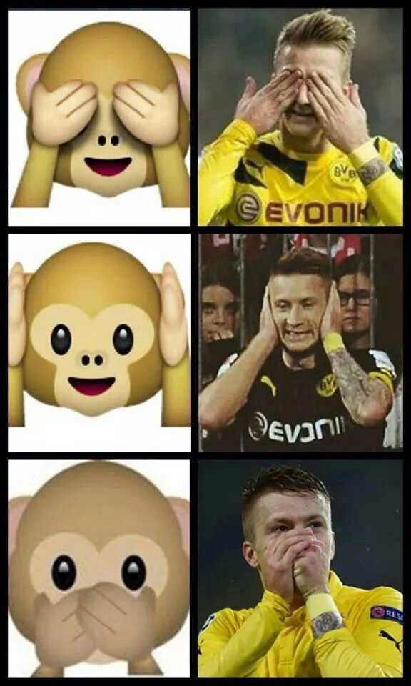Marco Reus has completed his hatrick of celebrations with emoticons. Lol! :D Gotta LOVE Marco Reus! ♡♡♡