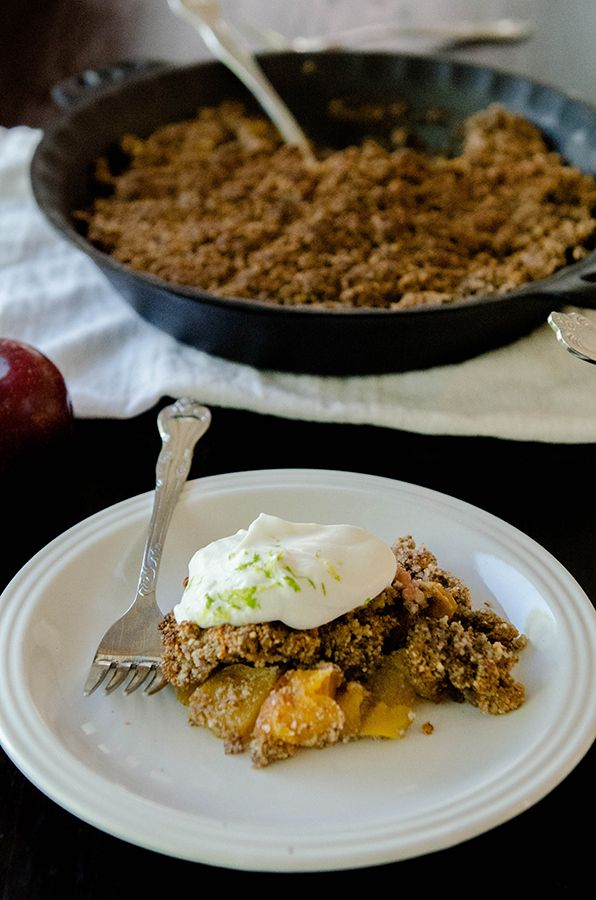 Grain-Free Stone Fruit Cobbler with Lime Coconut Cream   A Giveaway from California Almonds!