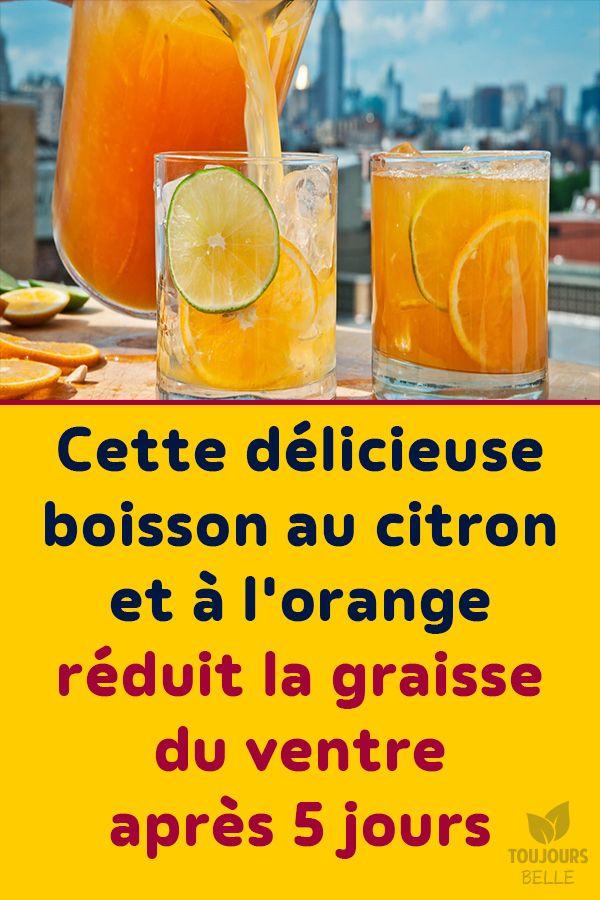 Cette délicieuse boisson au citron et à l'orange réduit la