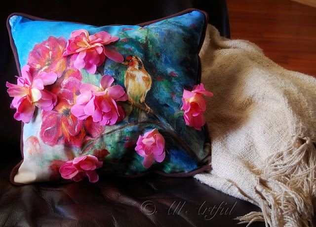 Hand Painted Pillows | Hand Painted and Embellished Pillow