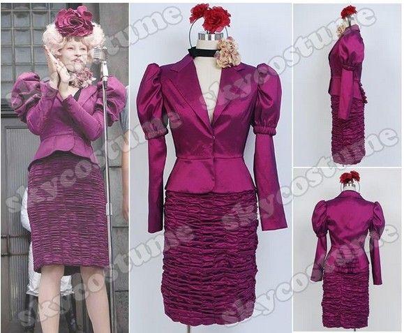 Aliexpress.com: Comprar Recién llegado de los juegos del hambre Effie Trinket uniforme vestido Cosplay de traje de batman fiable proveedores en PURPLESALAD