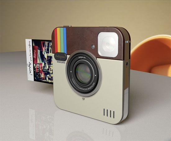 인스타그램 아이콘 모양으로 만든 카메라. 컨셉 디자인이라는데.. 나오면 하나쯤 사고싶군..