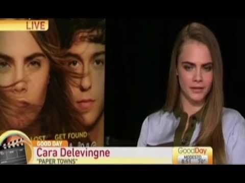 Model-turned-actor Cara Delevingne takes part in an uncomfortable   Leal...