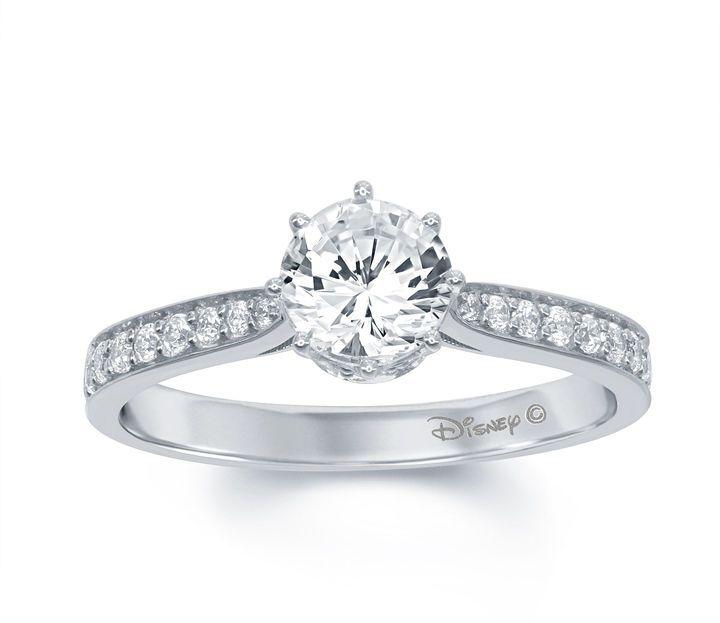 ENCHANTED FINE JEWELRY BY DISNEY Enchanted by Disney 1 C.T. T.W. Diamond 14K White Gold Disney Princess Tiara Ring