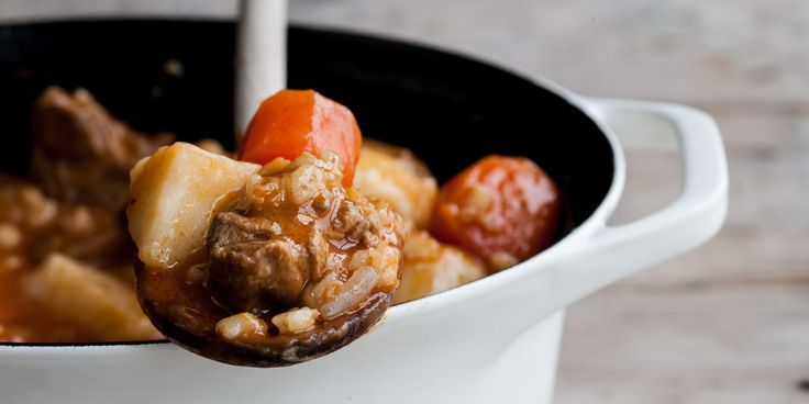 William Drabble's simple lamb stew relies on the comforting ingredients of potatoes, pearl barley and carrots.