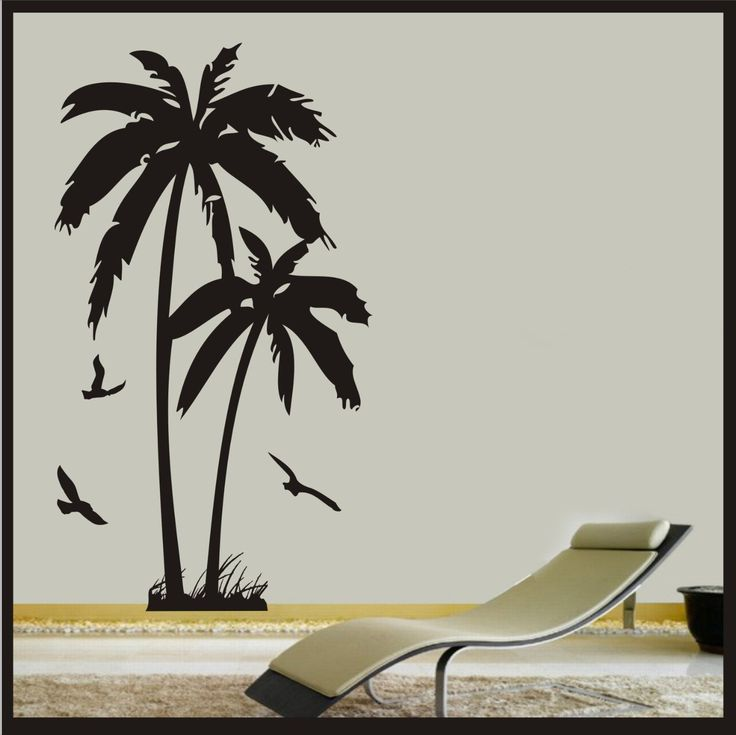 Palm Tree Wall Decor 88 best decals / stencils / wallpapers images on pinterest | palm