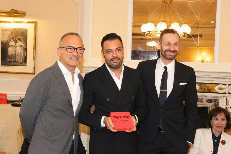 Elisio Sironi, Edoardo Grassie Luca Pardini ricevono il premio Miglior ristorante Trendy