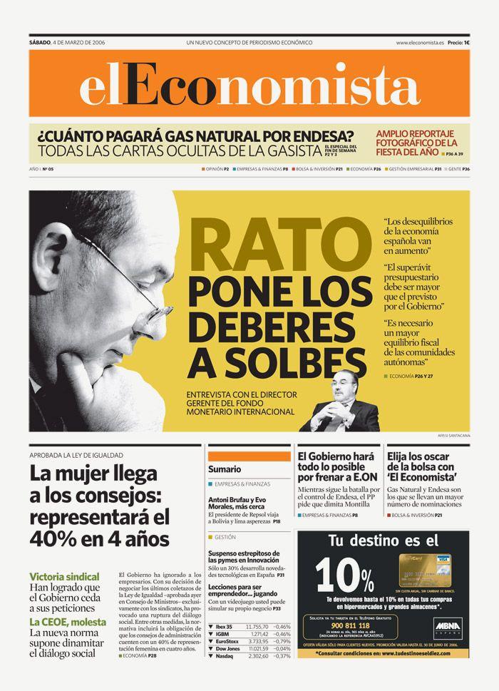 El Economista : Newspaper Design : via Miguel Buckenmeyer (possibly my new muse) :::