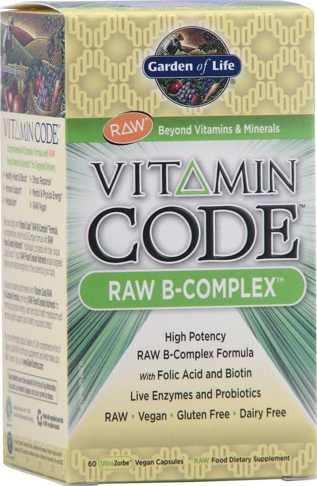 """Garden of Life Vitamin Code® RAW B-Complex™"" Have been taking vitamin b every morning for 4 months now, has helped me become a better morning person. Plus the biotin helps hair and nails. BB"