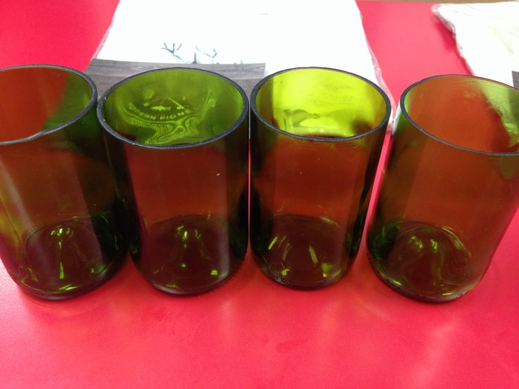 How to Turn Bottles into Drinking Glasses | www.georgiapellegrini.com