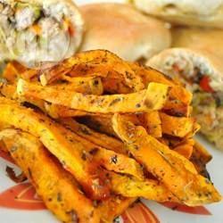 Rezeptbild: Fritten aus Süßkartoffeln
