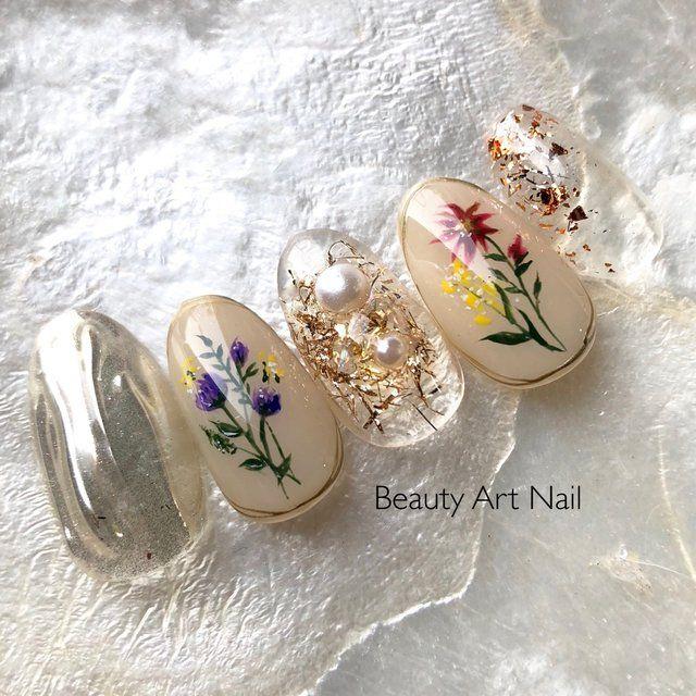 beauty art nail 会津若松のネイルサロン ネイルブック ネイルデザイン ウェディング ジェルネイル 和風ネイル