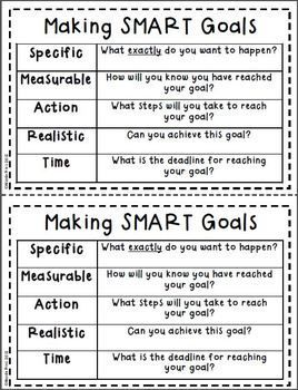NEW YEARS - SMART GOAL SETTING FLIP BOOK - TeachersPayTeachers.com setting goals, goal setting #goals #motivation