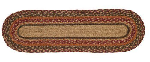 """Somerville Jute Stair Tread Oval 8.5x27"""" by Victorian Heart. $11.20. Extensive line of matching items and accessories available! (Search by Collection name). See Product Description below for more details!. High end quality and workmanship!. All cloth items in our collections are 100% preshrunk cotton. All braided items (like rugs, baskets, etc.) are 100% jute. Product measurements and additional details listed in title and/or Product Description below.. Constructed of..."""