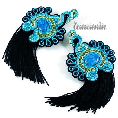 Loving these fringed soutache earrings.