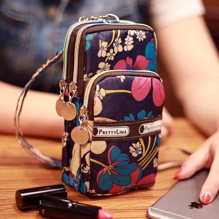 Mini Fashion Pattern Zipper Sport Shoulder Bag Wrist Purse For iPhone Samsung Xiaomi Sale - Banggood Mobile