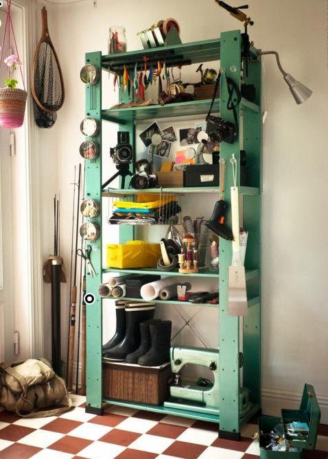 242 best hallway organization storage images on pinterest for Basement storage ideas ikea