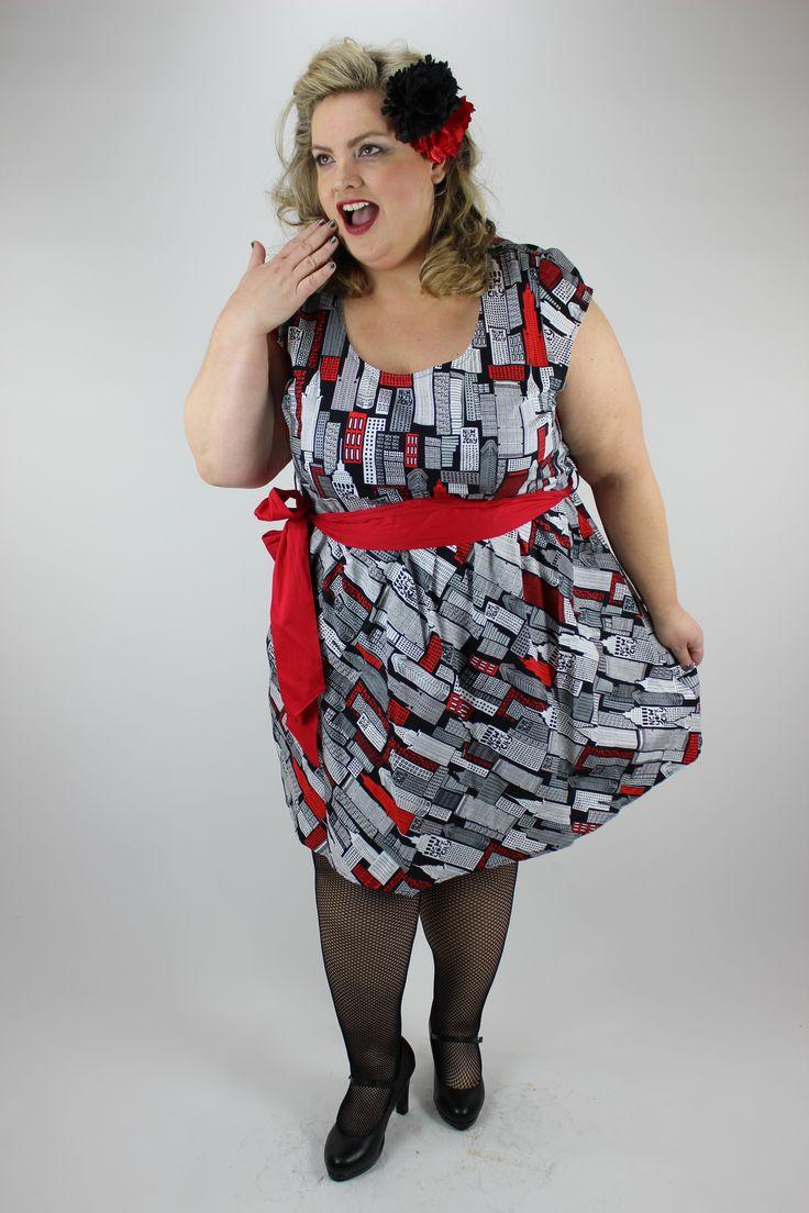 New York New York dress in Plus Sizes by Retrolicious line.