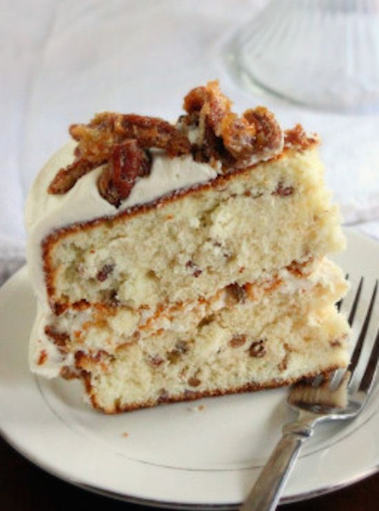 Going Nuts For Dessert... Pecan Praline Cake (1) From: My Honey's Place, please visit