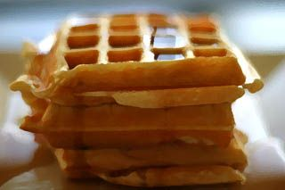 Waffles made with soy milk instead of regular milk...I tried this when I was out of regular milk, and they're actually REALLY delicious!!