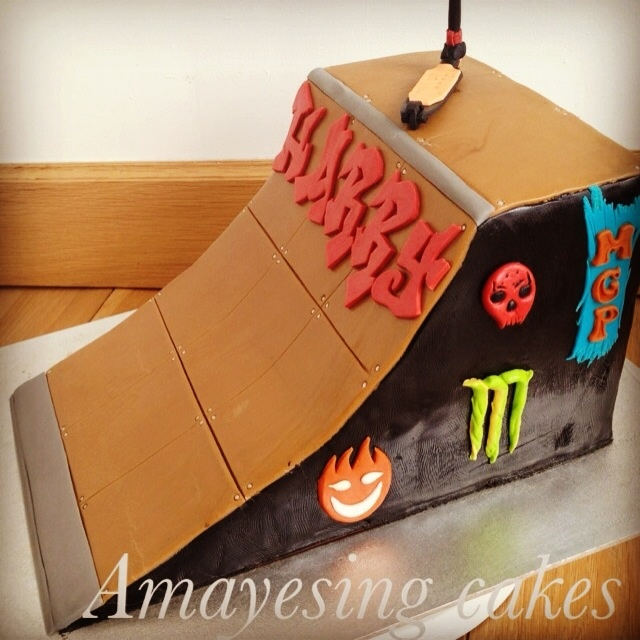 Skate Ramp Birthday Cake