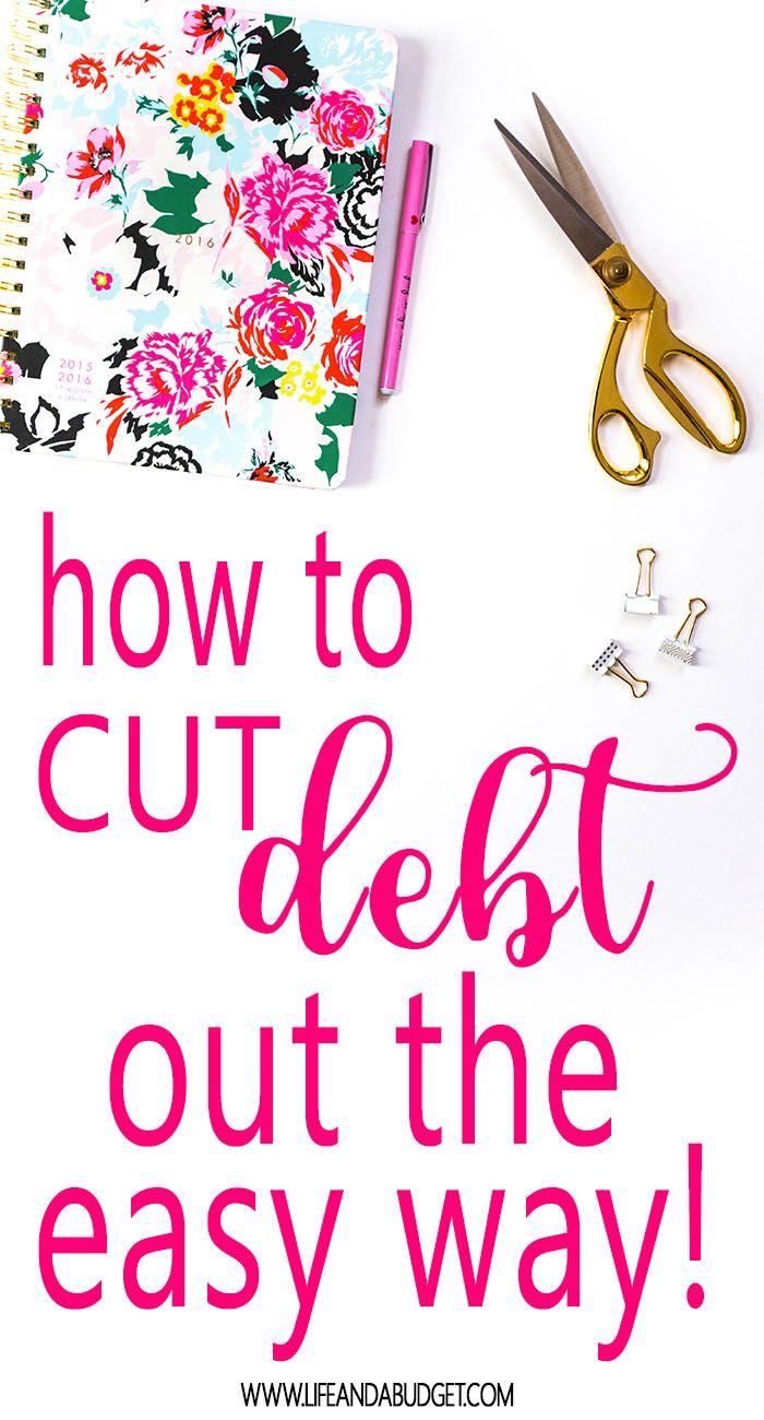 Learn how to pay down debt fast, the easy way. Pay down debt tips. via @lifeandabudget