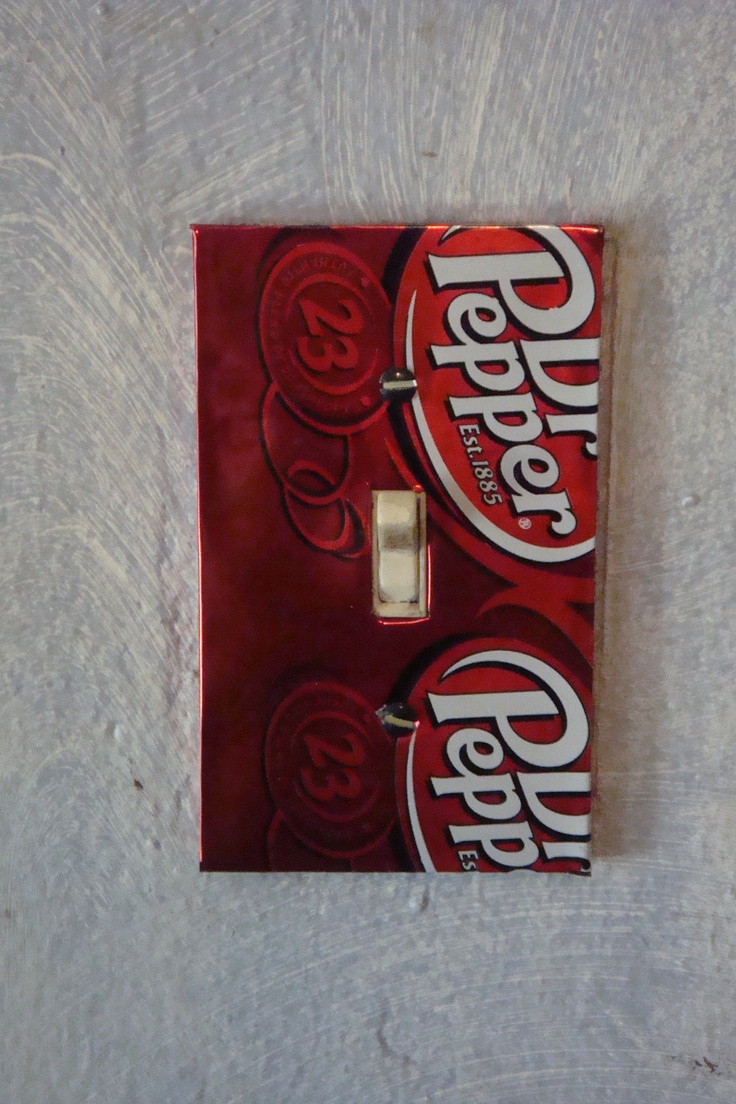 Soda Can Switch Plate. $2.00, via Etsy.