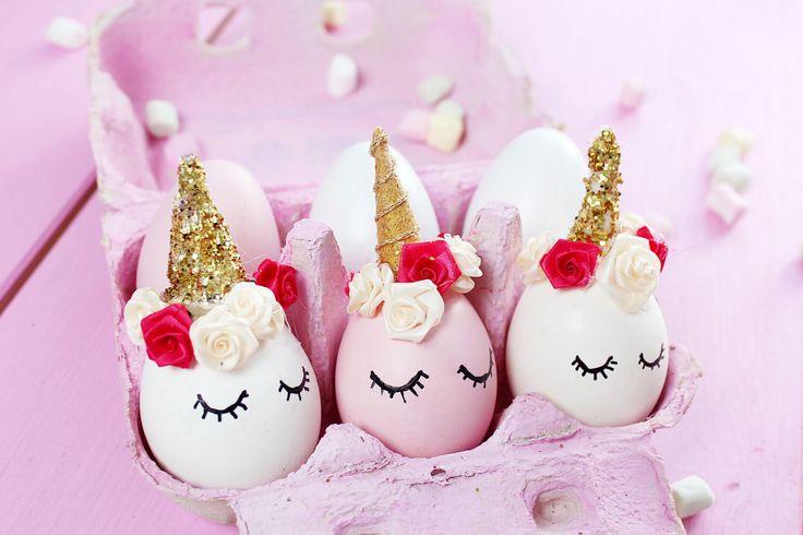 Einhörner sind gerade voll im Trend und für Ostern habe ich mir eine ganz besondere DIY Idee überlegt: Einhorn Ostereier! Das komplette DIY findet ihr hier!