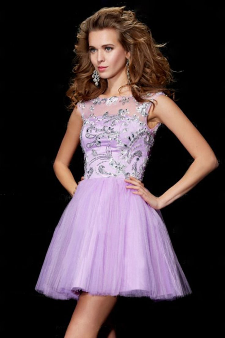 2014 New Arrival Homecoming Dresses A Line Sweetheart Tulle V Back With Applique And Rhinestones