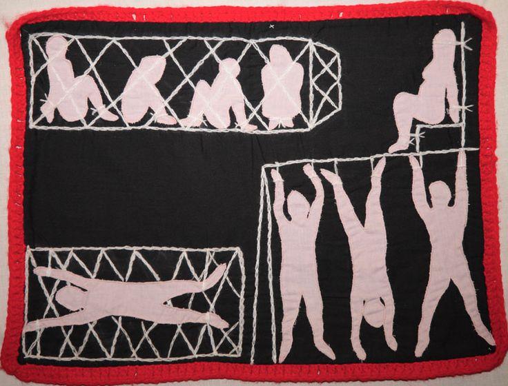 Arpillera, Marjorie Agosín: Sala de Torturas / Chamber of Torture