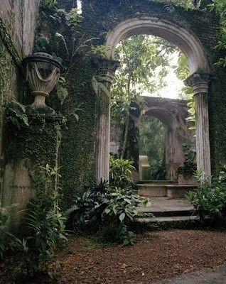 "I love the ""outdoor room"" aesthetic. You're apart of nature but you feel secure because you understand your sense of place. It may sound corny, but if I were an urban designer, I would have these faux-ruins in public parks. It may not be authentic, but it's certainly interesting"
