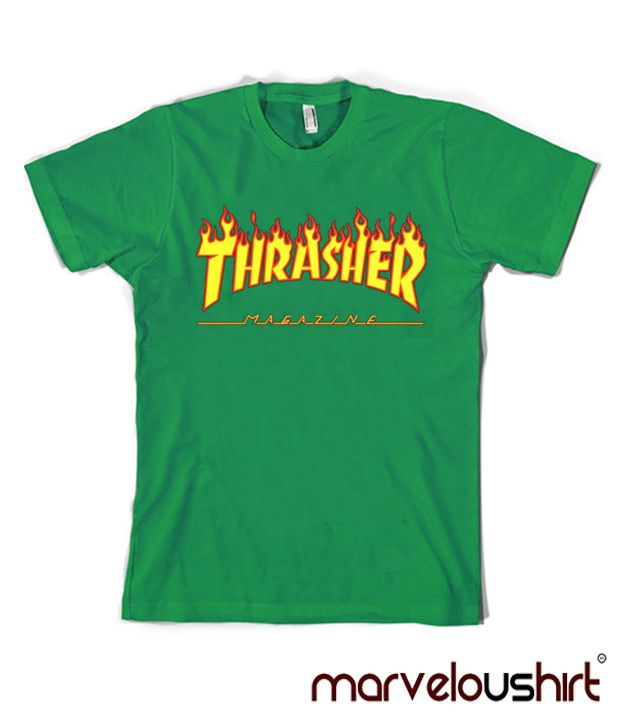 feff164930e0 Thrasher Logo Green T Shirt | Cool and Awesome T-Shirt Ever ...