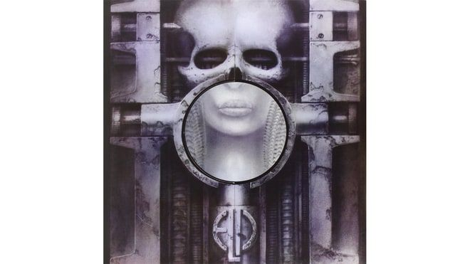 Emerson, Lake, and Palmer, 'Brain Salad Surgery' (1973)  The title, slang for a blowjob, came from a Dr. John single. The art, by H.R. Giger (most famous for designing the alien in Alien) originally had a more obvious shaft heading towards the mouth. Even obscured by the record company, the image of freaky skull-based fellatio remained.