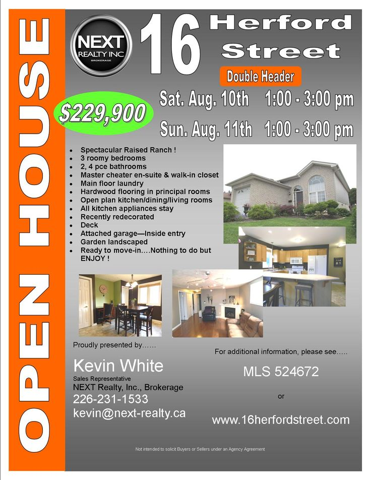 Open House Double Header Flyer - 16 Herford | Open House ...