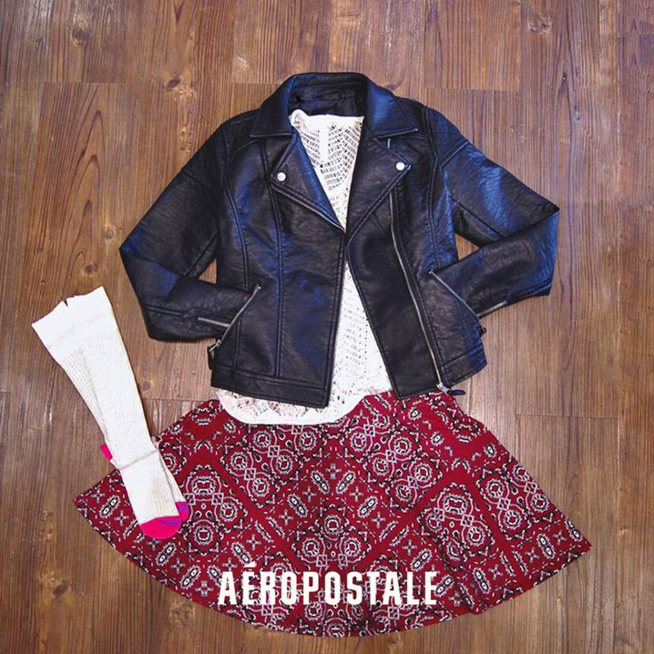 #AeroHolidayMx #AeropostaleMx Falda + Chamarra Aéropostale